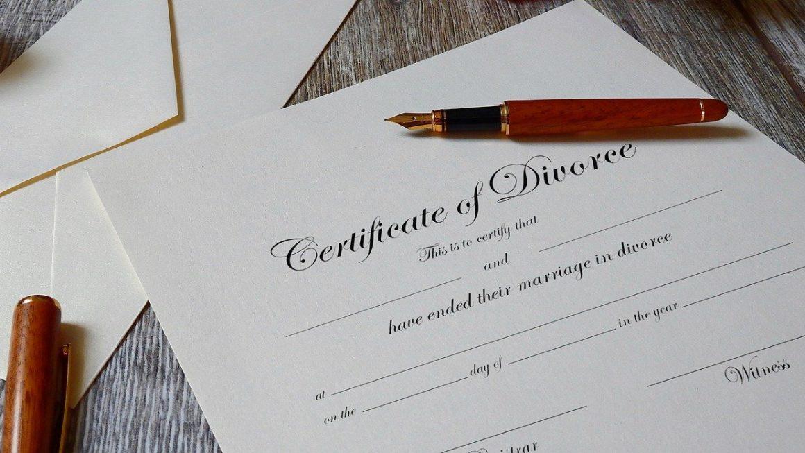 papier de divorce